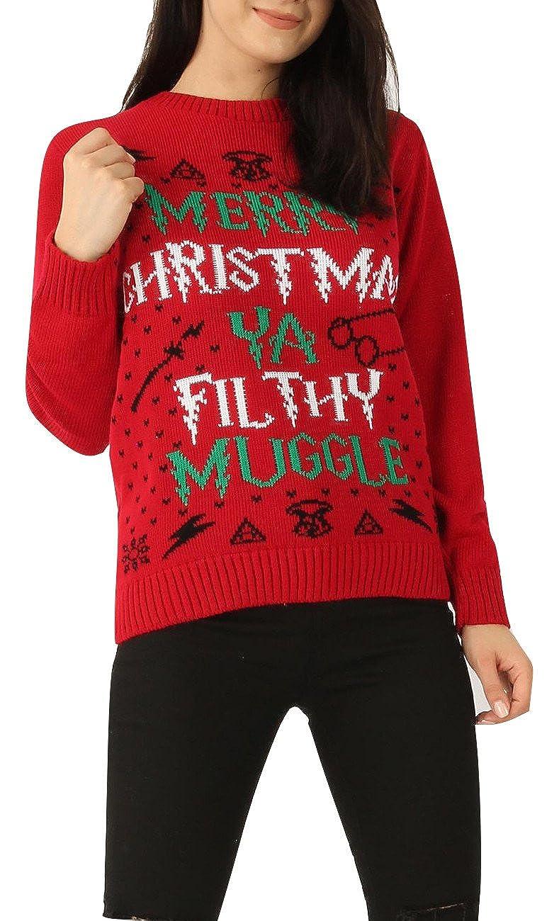 Ladies Mens Merry Christmas You Filthy Muggle Xmas Jumper CA Size 4-14 Momo&Ayat Fashions