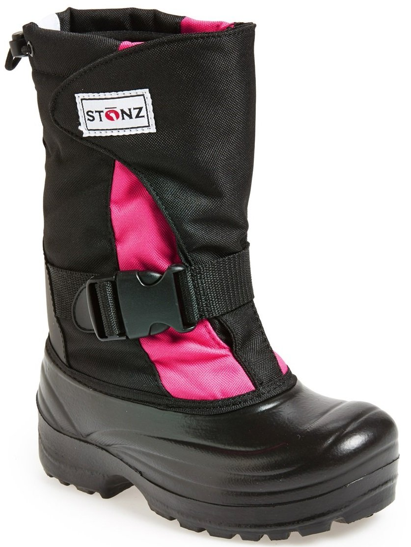 Stonz Winter Boots for Cold Weather, Snow, Ice and Winter Sports - Insulated, Super Light, Warm, Pink/Black, Youth 6
