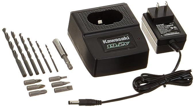 Amazon.com: Kawasaki 840051 Black 19.2-Volt 20-Piece Cordless Drill