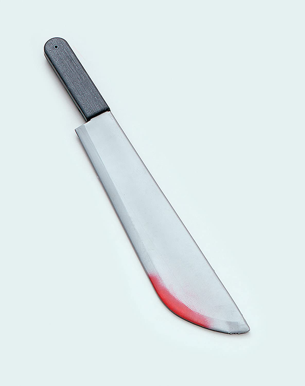 Machete Large + Blood Splatters Novelty Weapon for Novelty Weapon Fancy Dress Novelty Weapon by Partypackage Ltd Bristol
