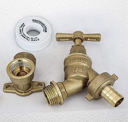 Yadianna Faucet Tap Wall Mounted Brass Retro Tap Outdoor Garden Taps Washing Machine Mop Toilet Outdoor Garden