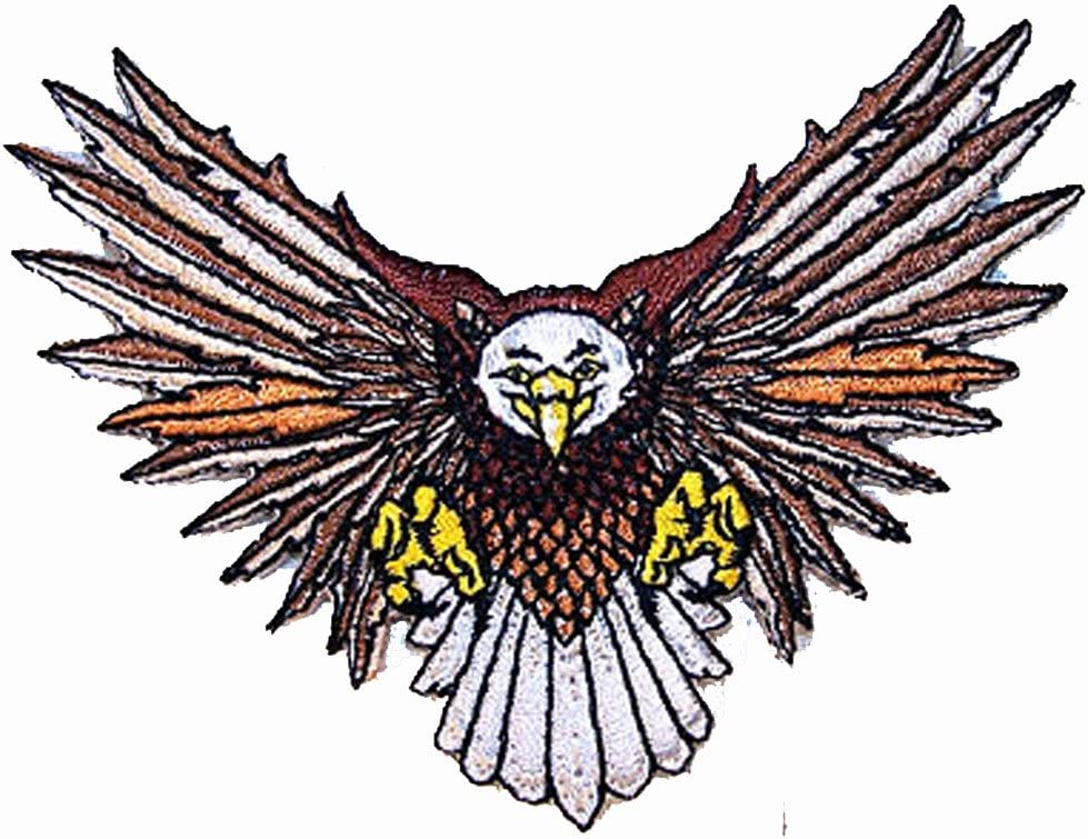EAGLE HEAD EMBROIDERED 3 INCH IRON ON  PATCH