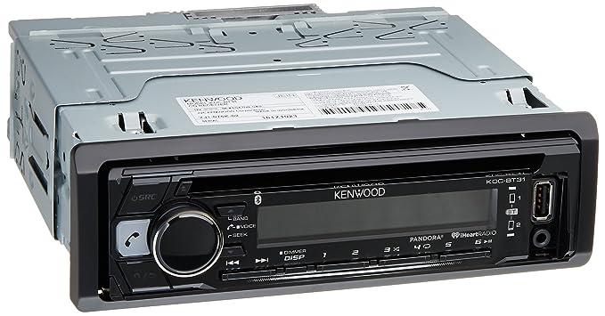 amazon com kenwood kdc bt31 1 din bluetooth car stereo receiver rh amazon com