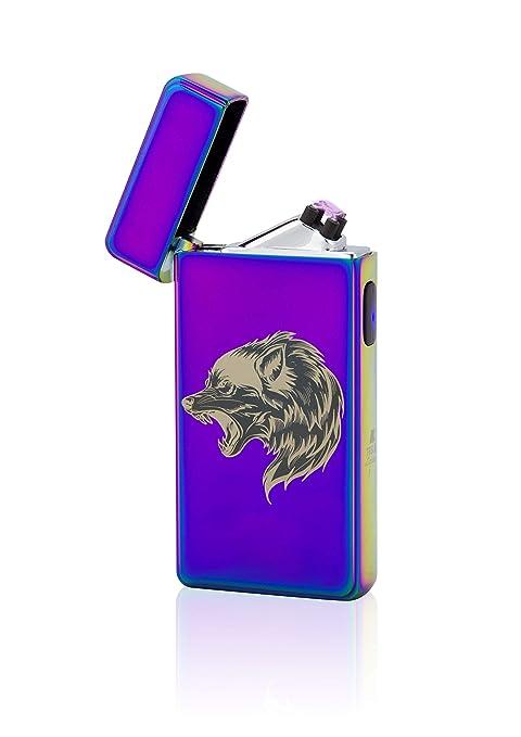 TESLA Lighter T13 | Luz Arco Mechero, Plasma Double de ARC electrónico, Recargable, Cargador con Corriente ...