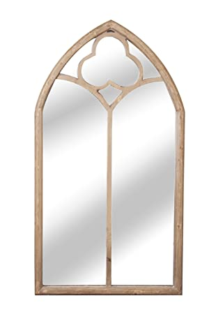 Primrose Reflect Garden Mirror Real Glass Low Distortion Wooden Gate Effect Glass Garden Illusion Mirror Door 6ft x 2ft 8in