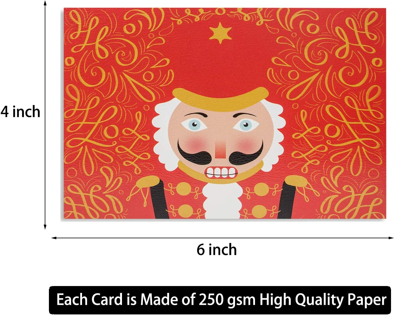 Assorted Holiday Greeting Cards in 24 Unique Watercolor Designs 24 Watercolor Christmas Cards Christmas Greeting Card Bulk Assorted Christmas Cards Include 24 Kraft Envelopes 4 x 6 Inches