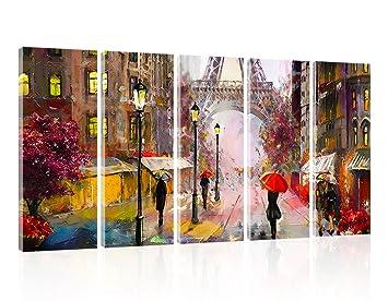 Amazon Com Wall Art Canvas Paris Eiffel Tower Canvas Wall