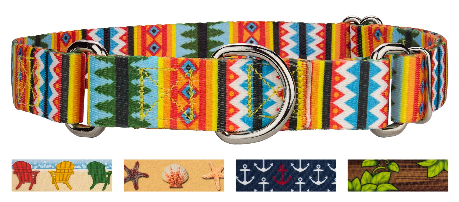 Country Brook Design 1 Inch Summer Pines Martingale Dog Collar - Large