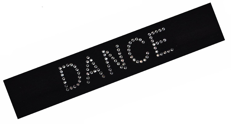 50ピース卸売バルクロットのダンスラインストーンコットンストレッチヘッドバンド B01I3CBKHS ブラック