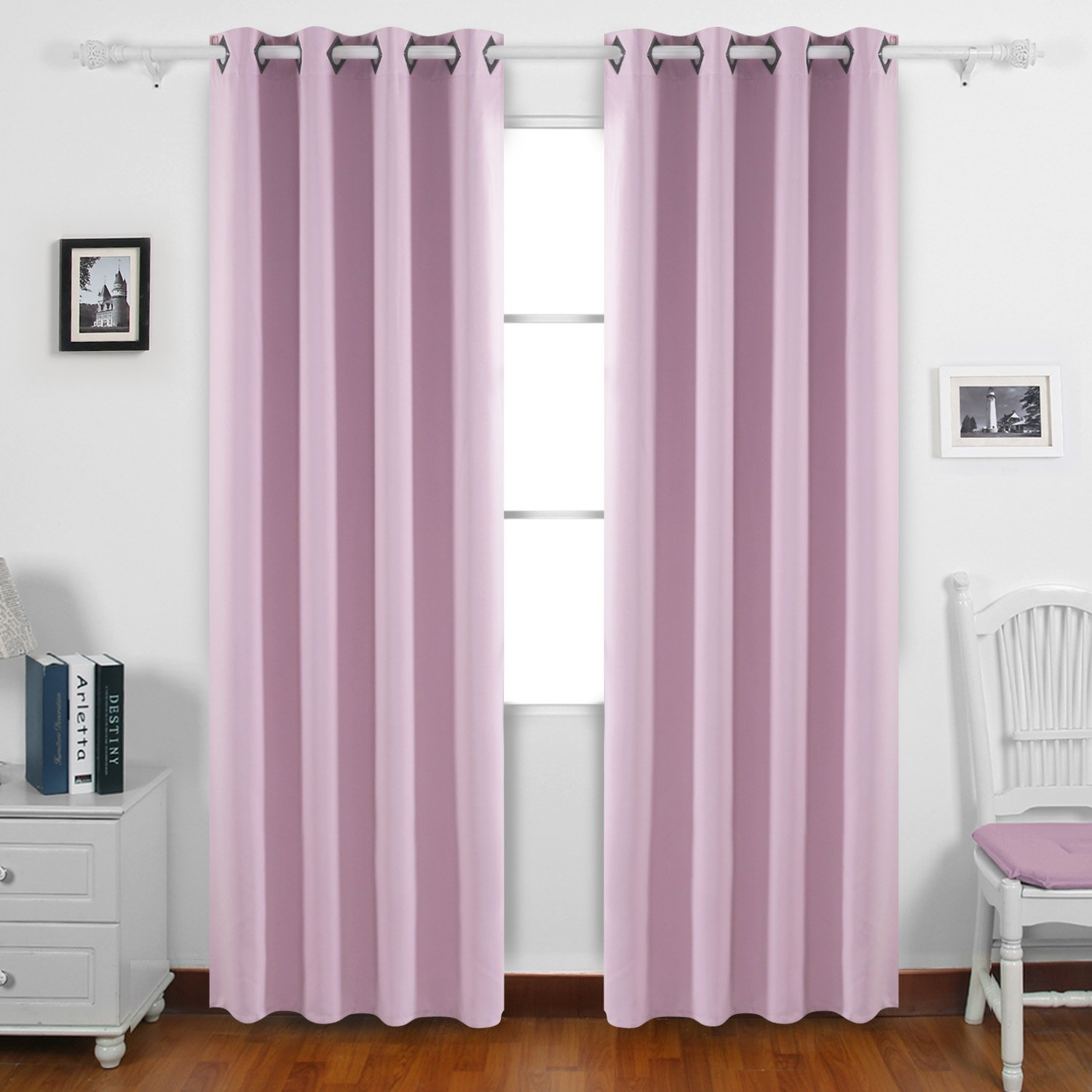 Deconovo Thermal Insulated Window Treatments Blackout Curtains Grommet Top Curtains