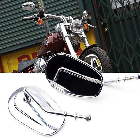 Motocicleta fuera de visión trasera izquierda & derecho vista lateral espejos ajuste para Harley Davidson XL1200L
