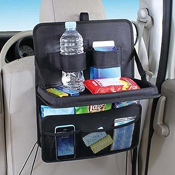Kobwa COCHE asiento trasero Organizador, almacenamiento Multibolsillos Con soportes de botellas, protectores de trasero
