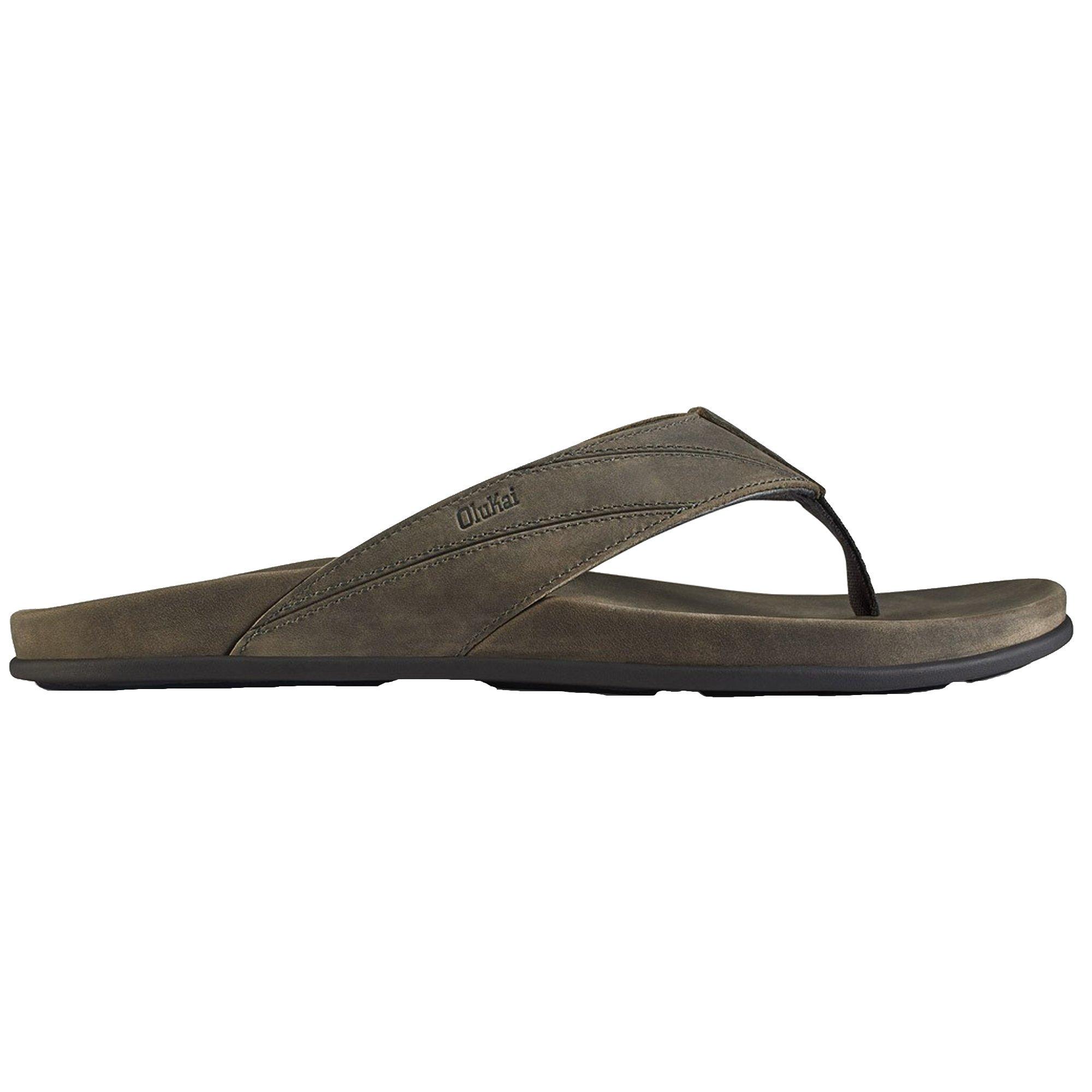 OLUKAI Men's Pikoi Sandal, Storm Grey/Storm Grey, 13