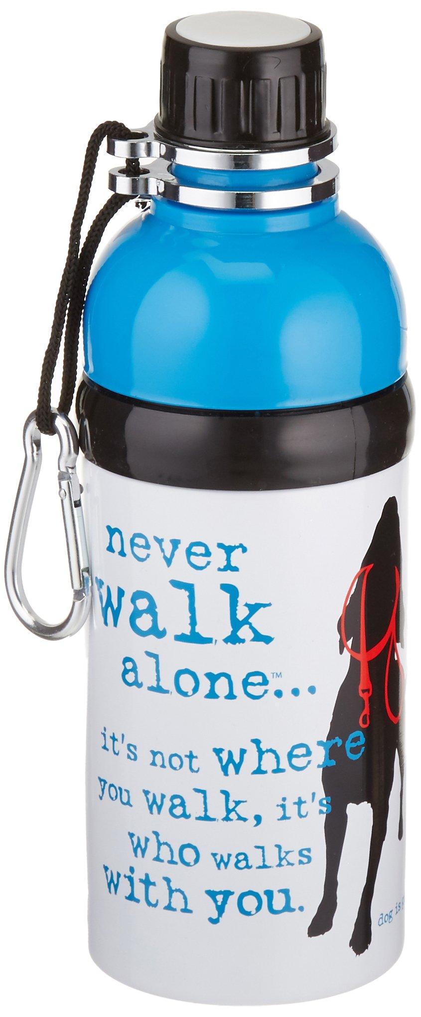 Dog is Good Never Walk Alone Pet Water Bottle, 16 oz