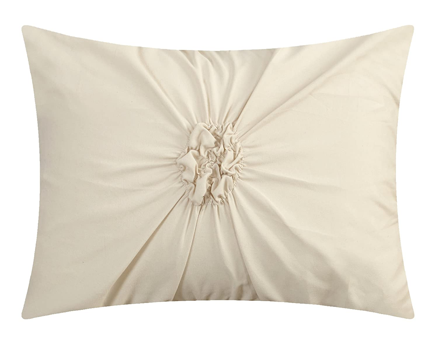 Queen Off-White CS2765-AN Chic Home Ashville 16 Piece Bed in a Bag Comforter Set