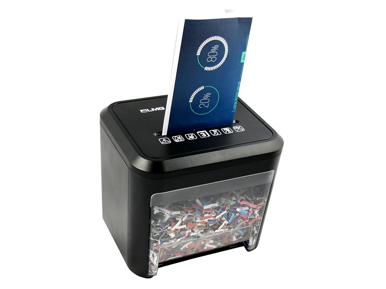 LMG | Premium Aktenvernichter im SCHREIBTISCHFORMAT - 2 JAHRE GARANTIE - Mit Automatischem Einzug & Rücklauffunktion! 2, 5 Meter/Minute für Papier & Kreditkarten. 3 L Behälter - in hochwertiger Ausfü