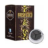 Briquettes charbon naturel Suprem Fresh Coco 1kg pour chicha narguile special systeme de chauffe Kaloud 72 pcs