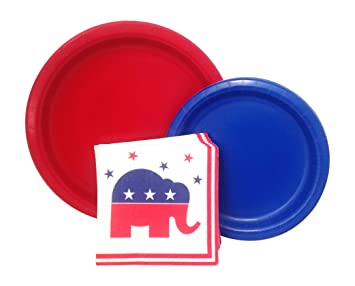 Republican Elephant Election Party Supply Pack! Bundle Includes Paper Plates u0026 Napkins for 8 Guests  sc 1 st  Amazon.com & Amazon.com: Republican Elephant Election Party Supply Pack! Bundle ...