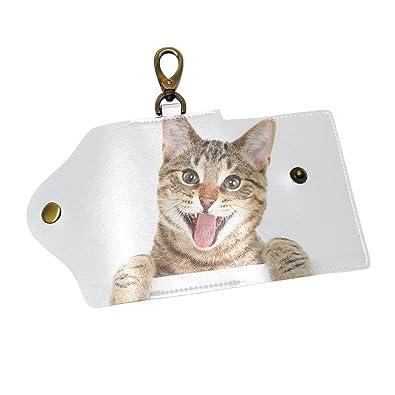 1c48286212 Amazon.com  SHANGLONG Cute Cat Animal Key Holder Case