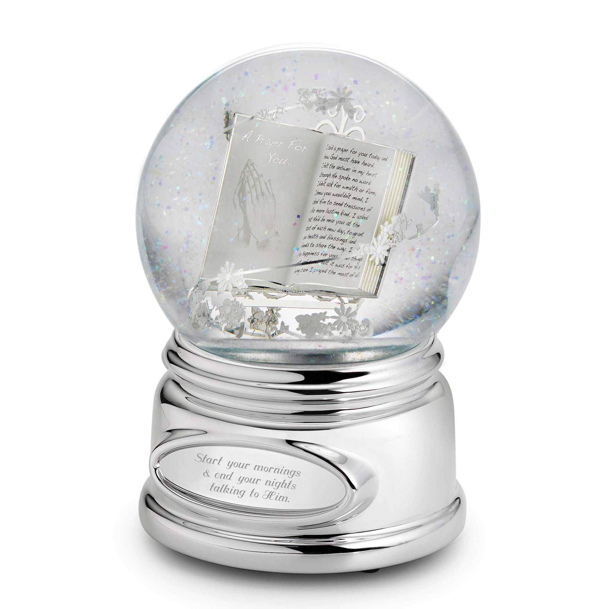 Things Remembered Personalized Praying Hands Musical Snow Globe with Engraving Included by Things Remembered
