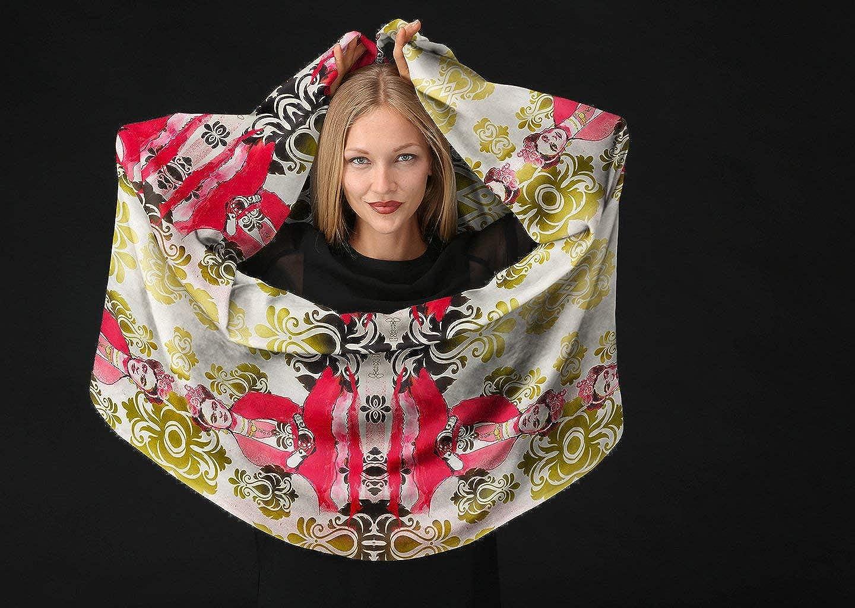 VIDA Frida Khalo Modal Scarf Original Artwork Designed By Corina Hazlett