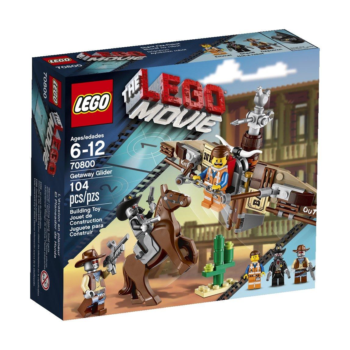 amazon com lego the lego movie getaway glider 70800 toys games