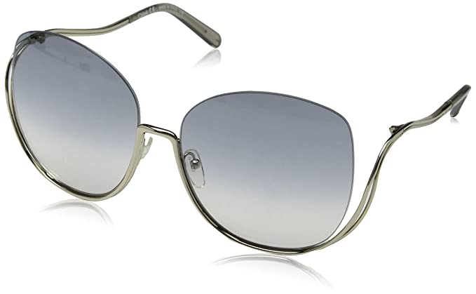 f73ce1dcb6f Chloe CE125S 734 54mm Gold Transparent Light Grey Sunglasses at ...