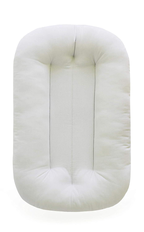 Snuggle Me Organic Bare | Baby Lounger & Infant Floor Seat | Newborn Essentials | Organic Cotton, Fiberfill |Coast