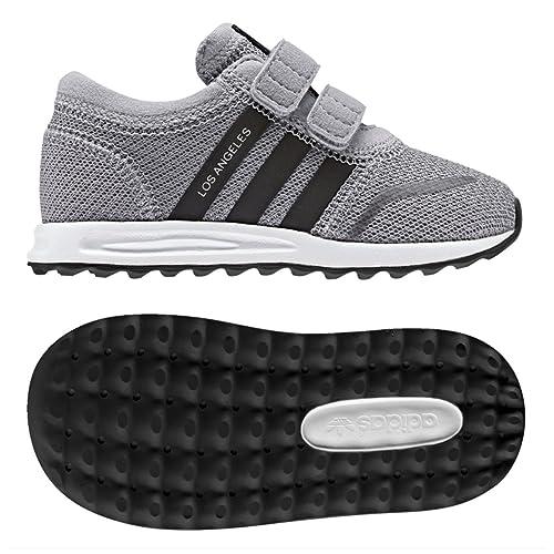 adidas Los Angeles CF I, Zapatillas Unisex bebé, Gris (Grimed/Negbas/Ftwbla), 25.5 EU: Amazon.es: Zapatos y complementos