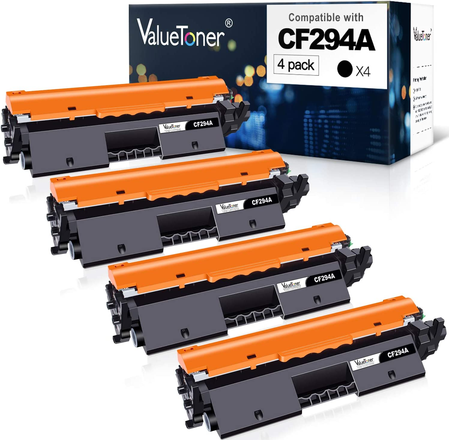 Valuetoner Compatible Toner Cartridge Replacement for HP 94A CF294A for Laserjet Pro MFP M148dw, M148fdw, M118dw, Laserjet M148, M118 Printer (Black, 4-Pack)