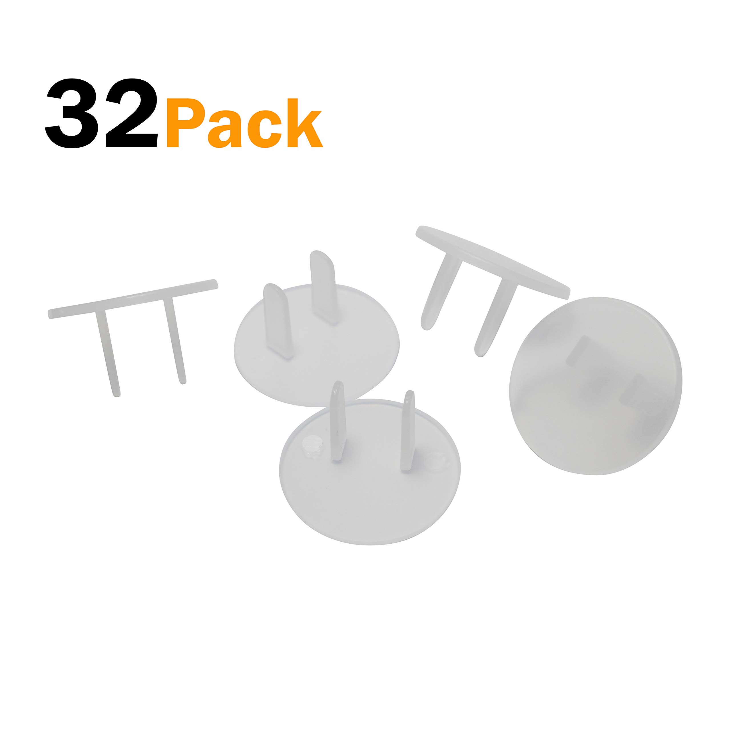 Clear Outlet Plug Covers (32 Pack) Child Proof Electrical Safety Outlet Covers - sMailez