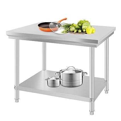 BuoQua 60x90x80cm Tavolo Da Lavoro Per Cucina Professionale Acciaio ...