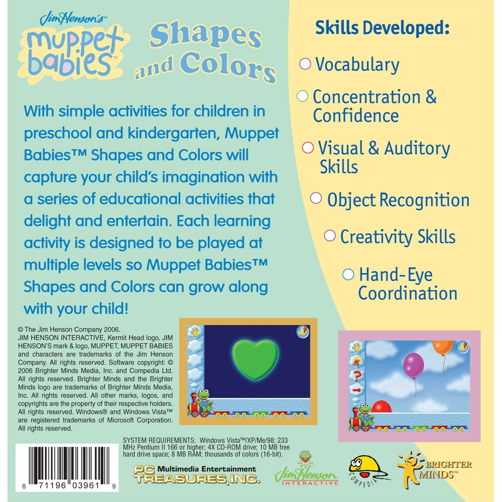 Amazon.com: Muppet Babies: Shapes and Colors