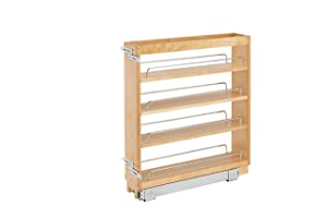 Rev-A-Shelf - 448-BC-5C - 5 in. Pull-Out Wood Base Cabinet Organizer