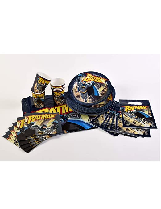 COOLMP - Juego de 6 - Kit de cumpleaños de Batman - 25 ...