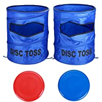 Win SPORTS Folding Disc Slam Game Set, Flying Disc Toss Slamming Game Set (2 Targets & 2 Flying Disc & Carrying Case), Kids Adults Fun Game Perfect for Tailgating, Backyard, Family Parties, BBQs