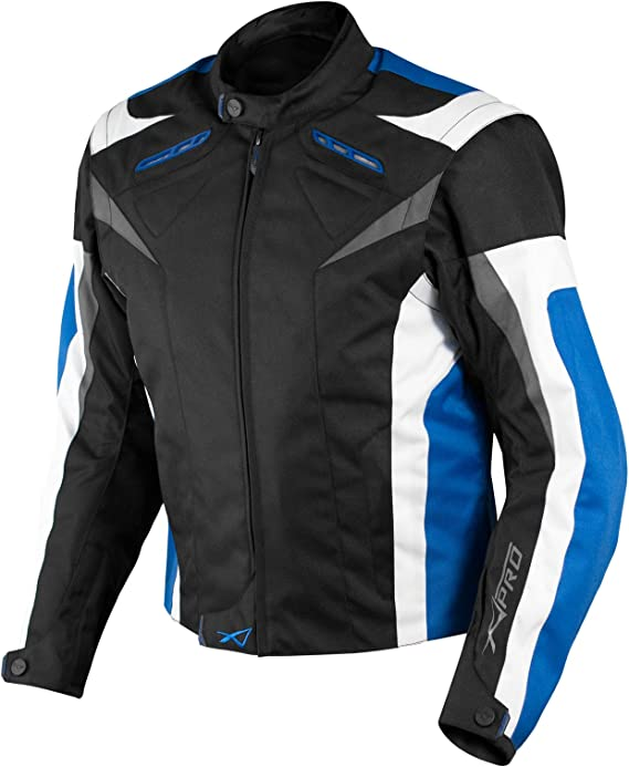 A Pro Motorradjacke Ce Protektoren Sport Textil Motorrad Thermofutter Blau L Auto