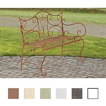 CLP Banc de Jardin Tara - Banquette de Jardin Fer Forgé Style ...