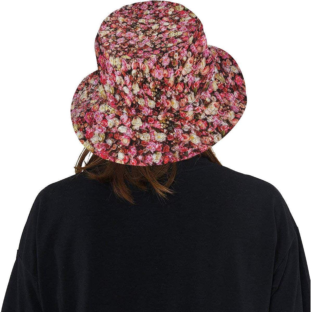Bucket Hat Beautiful Flowers Outdoor Travel Sun Protection Hat Sun Hat Cap Wide Rim Hat
