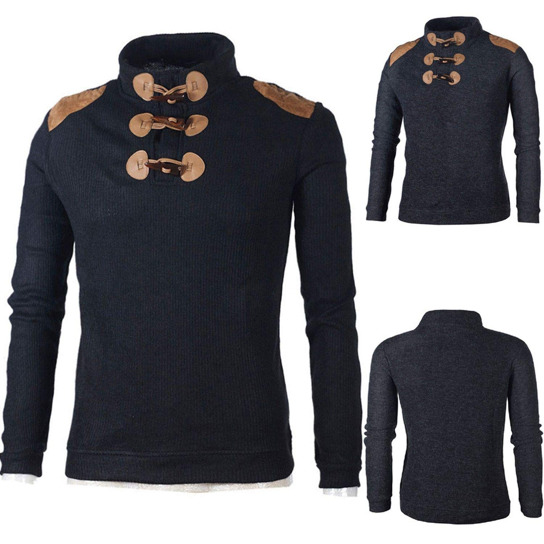 Sweatshirts for Men Mens Hoodies Streetwear Autumn Winter Casual on Choker Long Sleeve Jersey Shirt