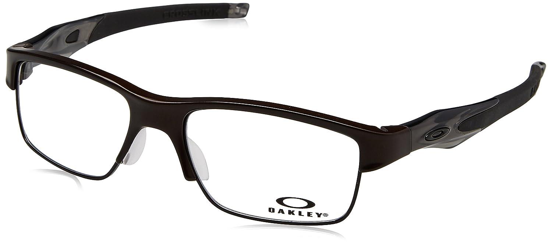 87d35de83c Oakley OX3128-02 Crosslink Switch Eyeglasses-Pewter Gray Smoke Black-53mm  at Amazon Men s Clothing store  Prescription Eyewear Frames