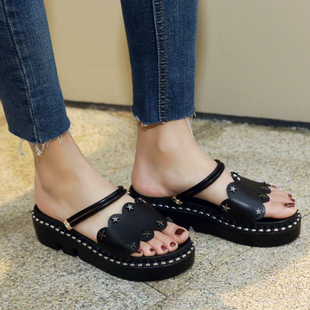Zanpa Women Sweet Flatform Sandals 2 Way B07C38LN87 9 US US 9 (sole length 25.5 CM)|5#Black b23d08