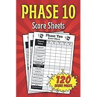 Phase 10 Score Sheets: Phase 10 Score Sheet For Tracking Your Favorite Game | Phase 10 Score Sheet | Phase 10 Score Card…