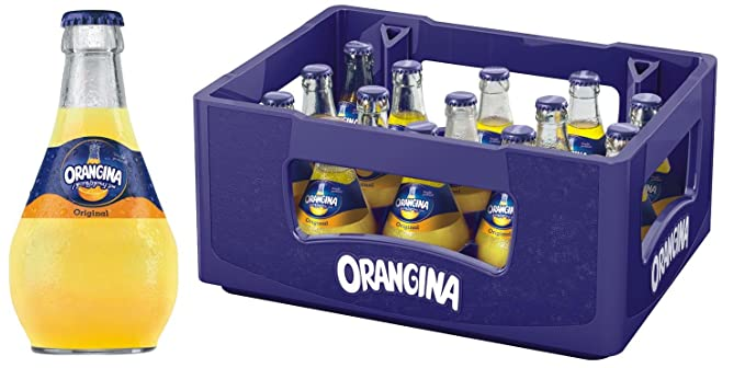 Orangina Limonade botella de vidrio 15x0,25l original en el caso original