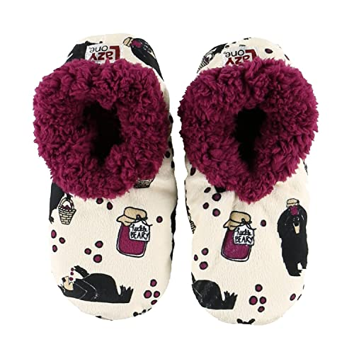 38c0934ba3fd Lazy One Women s Crabby in the Morning Fuzzy Feet Slippers  Amazon ...