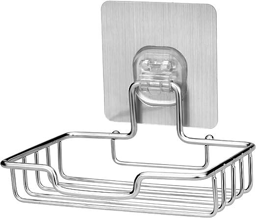 Black Stainless Steel Bathroom Polished Soap Holder Square Soap Dish Shelf NEW