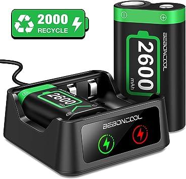BEBONCOOL - Batería para mando Xbox One (2 baterías recargables de ...