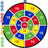 """29"""" Large Dart Board, Board Games for Kids with 12 Sticky Balls, Indoor/ Sport Outdoor Fun Party Play Game Toys, Birthday Gif"""