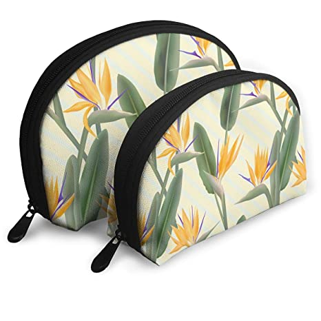 08de9adb7fee Amazon.com: Bird of Paradise Flower Pattern Multifunction Cosmetic ...