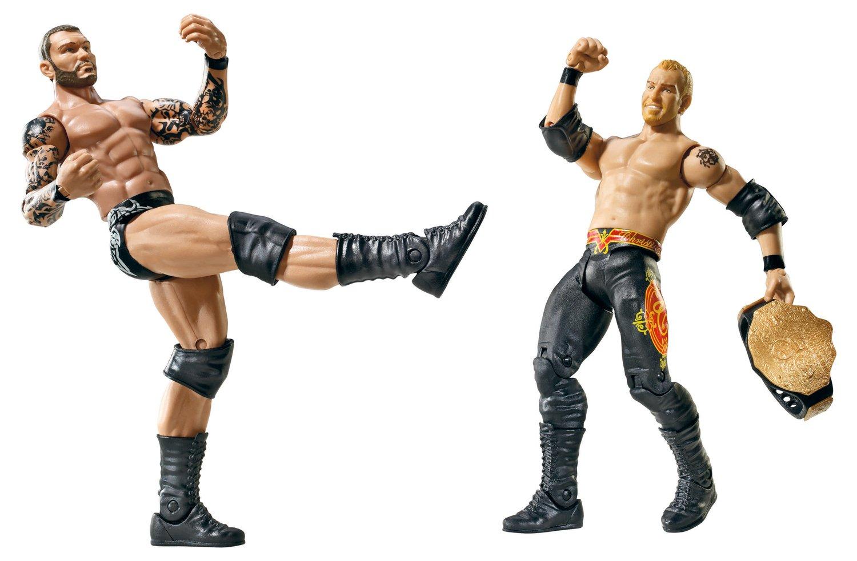 Amazon Com Wwe Battle Pack Christian Vs Randy Orton Figure 2 Pack